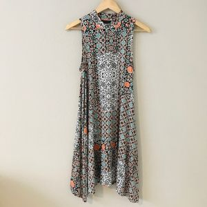 Anthropologie Maeve Lilt Swing Dress Floral Boho